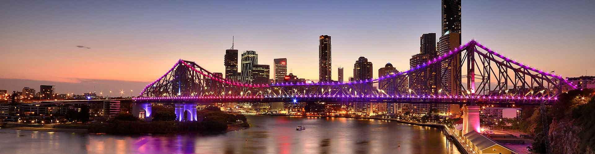 Brisbane - Szobák Fortitude Valley városrészen. Brisbane térképek, fotók, és ajánlások minden egyes Brisbane szobáról.