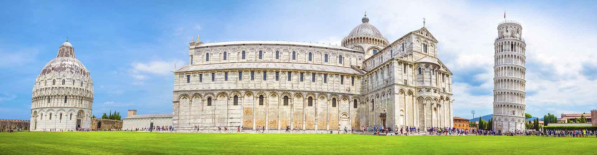 Pisa - Camping közel Galileo Galilei Repülőtér. Pisa térképek, fotók és ajánlások minden egyes Pisa campingról.