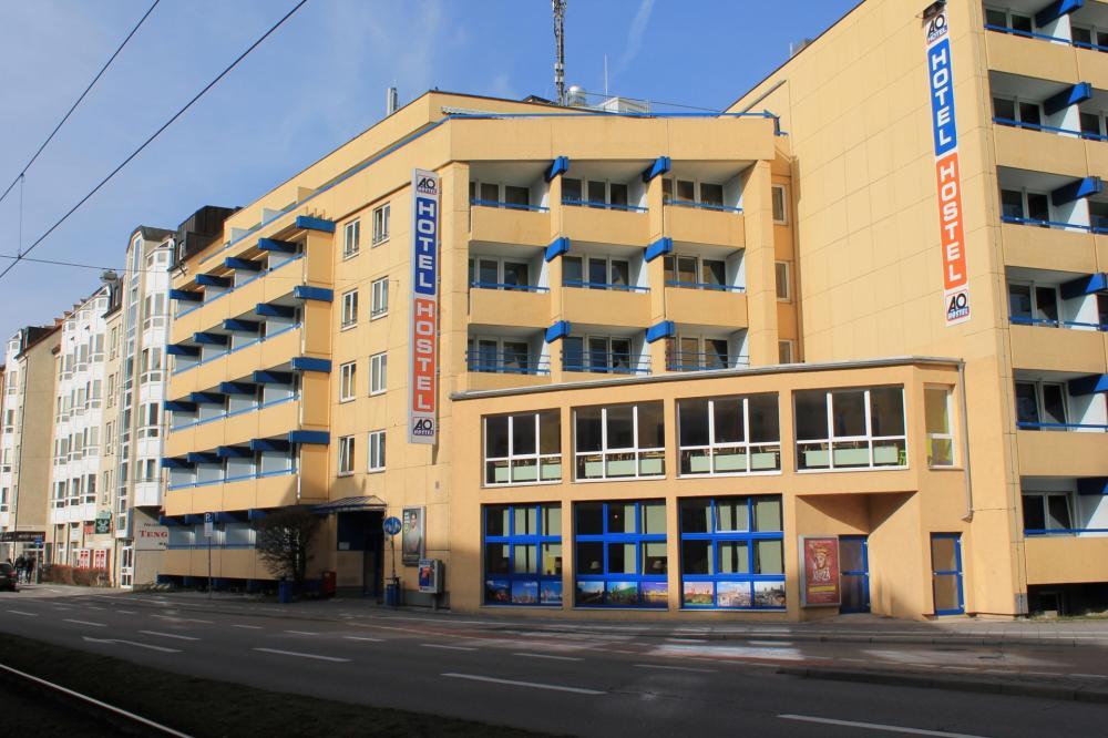 A & O München Hackerbrücke Hostel épülete
