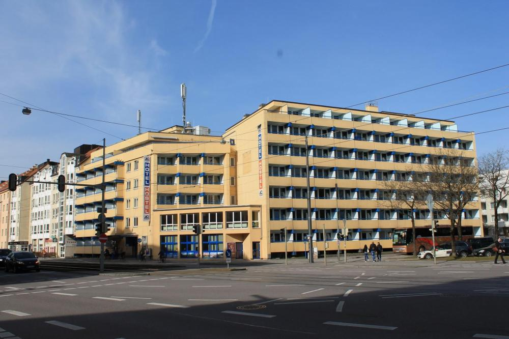 A & O München Hackerbrücke Hostel homlokzat
